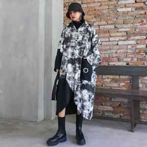 【ワンピース】ロング丈ファッションストリート系長袖シャツワンピース33685470