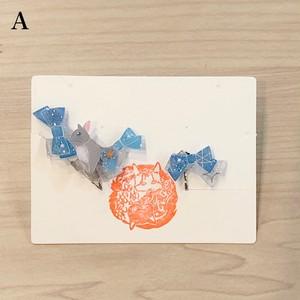 琥珀のゆめ☆蛍石のうつつ  リボンうさぎイヤリング (赤レンガ店)