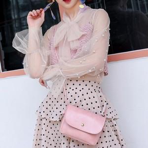 【ファッション小物】欧米高級の海外トレンドシンプル合わせやすい無地ミニバッグ