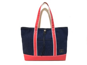 -MARK- CANVAS COLOR TOTE  RED SIZE:M