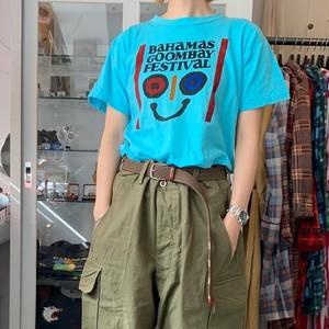 "70's〜PRINT TEE ""BAHAMAS GOOMBAY FESTIVAL"" VINTAGE プリントT"
