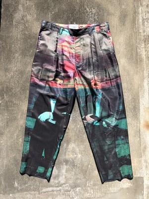 blackweirdos / silk wide pants - PRESIDENTS