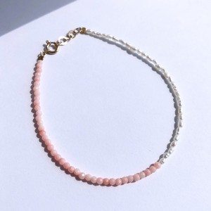 K10YG Pettit Coral x Seed Pearl Bracelet / チャリティージュエリー