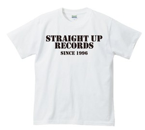 STRAIGHT UP RECORDS OFFICIAL T-SHIRT : 1(白ボディー)