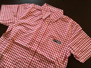 UGR半袖チェックシャツ(レッド)