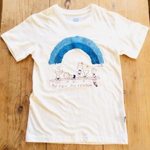 藍染 阿波和紙プリント オリジナル Tシャツ【Tomio × IBB】