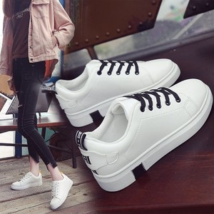 【shoes】Casual solid platform sneakers