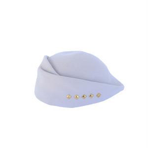 hntbk RRFW1929 fur felt Draped beret (IVORY)
