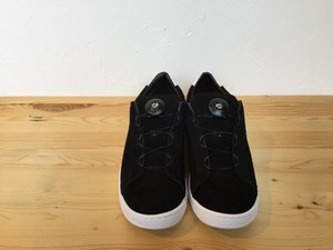 "patrmigan""SUEDE COURT SHOES BLACK/WHITE"