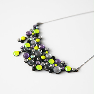 Big Bubble Necklace -neon yellow-