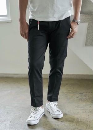 Men's [cm002-65 ] ストレッチピケトラウザーズ  黒パンツ日本製