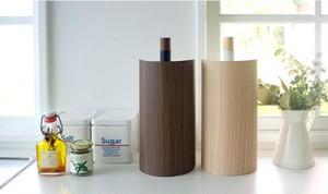 木転写キッチンペーパーホルダー 【タテ置きタイプ】 幅13cm スチール製カバー スリム 『TEER』 【完成品】