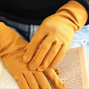 佩×ケノコト【手袋】かぼちゃ/ウール100%/手が細くキレイに見える