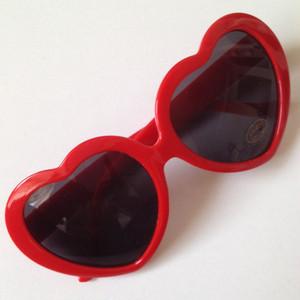 おしゃれハート型♡サングラス/伊達サングラス/伊達メガネ/UVカット/レディース用/メンズ用/Heart Sunglasses/ピンク/ライトピンク/サックス/パープル/レッド/ブラック/ホワイト