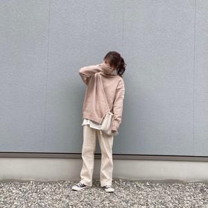 button one shoulder knit[9/23n-20]
