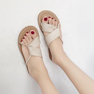 【sandal】summer 2018 new Korean fashion  flat  retro chic beach sandal