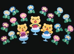 【夏の壁面装飾】かき氷で頭キンキン