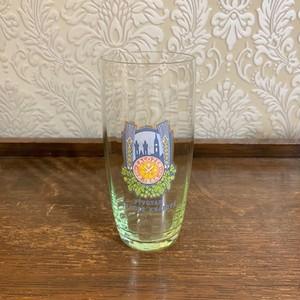 チェコ  グリーンのビアグラス