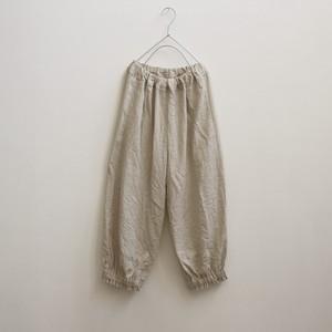 リネン*裾絞りパンツ*アイボリー