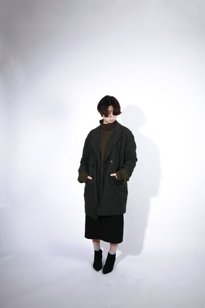 GREN CHECK  RIGHT WOOL CHESTERFIELD COAT