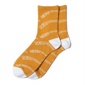 Wheel Logo Socks (Yellow)