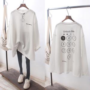UnlockMeルーズフィットロングTシャツ(4col)