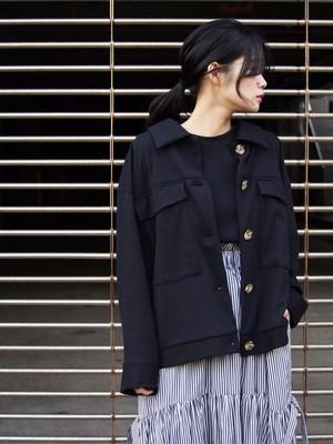 NATSUMI ZAMA Pocket Short Coat black