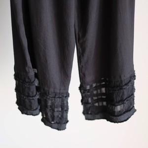 奥田 早織 / シルク混パンツ[Black]