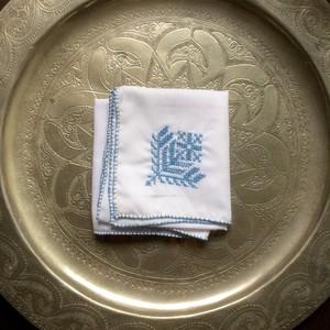 モロッコ フェズ刺繍 -ターコイズブルー-