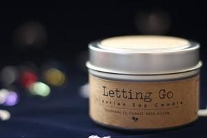 Letting Go〔手放す〕 アロハエリクサーキャンドル(メッセージカード付)