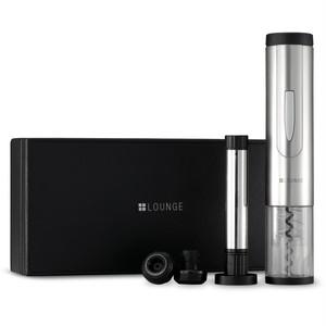 自動コルク抜き&保存栓 ワインアクセサリーセットLAS-W203(プラスラウンジ(+LOUNGE))