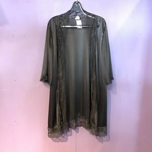 80's black lingerie gown [B2542]