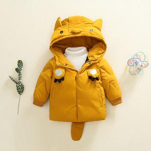 【ベビー服】カートゥーンフード付き耳付きしっぽ付き綿入れコート23542540