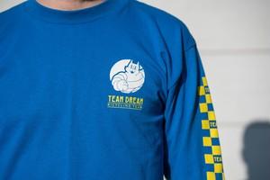 TEAM DREAM BICYCLING TEAM / Check Yo Self Checkered Sleeve Long Sleeve / Ryal Blue