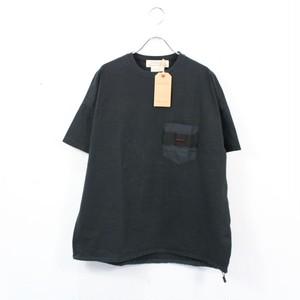 【新品】REMI RELIEF × BRIEFING / レミレリーフ × ブリーフィング   ヴィンテージ加工ポケットTシャツ   M   ブラック