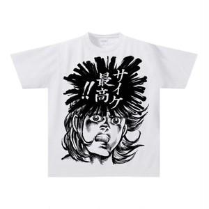 70s マンガ風 デカプリント ドライTシャツ 「サイケ 最高‼︎」