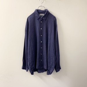 NATURAL WAVE リネンシャツ ブルー size 3 メンズ 古着