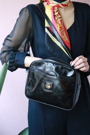CELINE black square shoulder bag