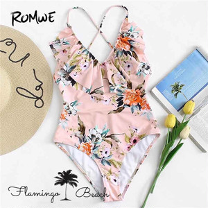 【FlamingoBeach】flower monokini