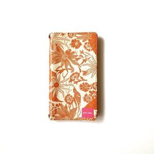 北欧デザイン 手帳型スマートフォンケース [ベルトなし] | iPhone6/7/8/SE(第二世代)兼用 | paradise orange