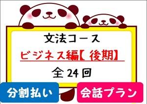 毎月払い★文法コース【会話プラン】~ビジネス編~後期