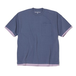 WIDE SILHOUETTE T-SHIRT-PURPLE