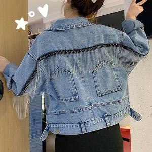 【アウター】絶対流行レトロ穗状折り襟切り替えジャケット27018296