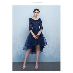 パーティードレス 二次会 ドレス ウェディングドレス ミニドレス 大きいサイズ 結婚式 ドレス ワンピース 袖あり 不規則 パーティードレス jrou085
