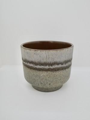 ブルーグレーの鉢カバー