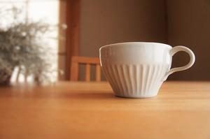 砥部焼/片耳スープ碗/鎬/ひろき窯