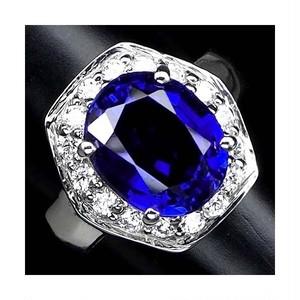 大粒5.5ct! サファイア リング 指輪 11号 アフリカ産 綺麗に煌めくカシミール・ブルー!