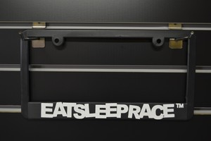 EAT SLEEP RACE(2colors) Licence plate frames