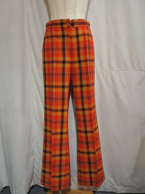Multi Color Check Flare Slacks [2125]
