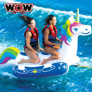 WOW(ワオ) ユニコーン 2人乗り トーイングチューブ ジェットやボートで引っ張って大迫力